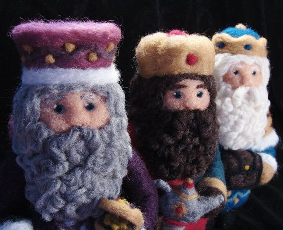 Needle Felted Christmas We Three Kings The Quest by McBrideHouse