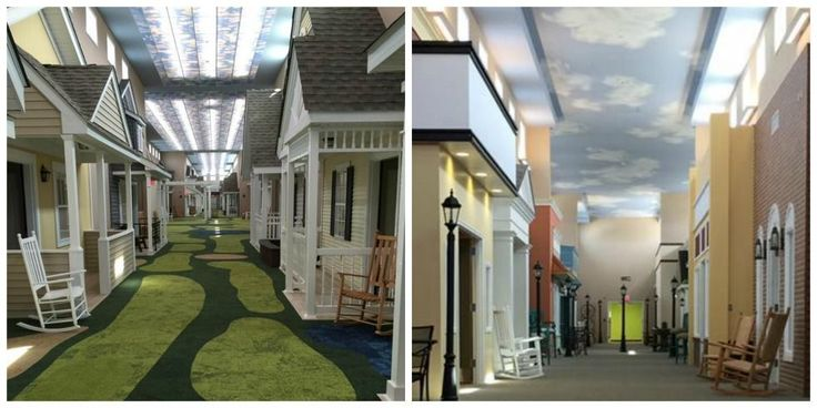 Too cool! This Assisted Living Facility Is Designed to Look Like a Small Town From the 1930s and '40s