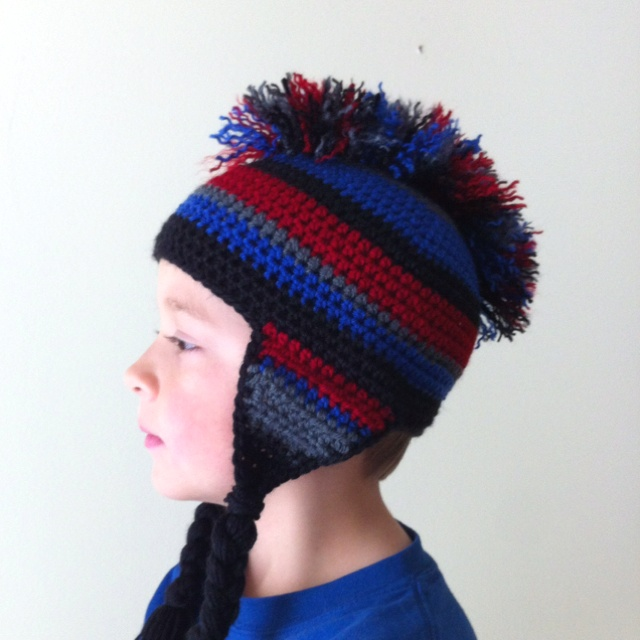 Crochet hat with Mohawk crochet Pinterest