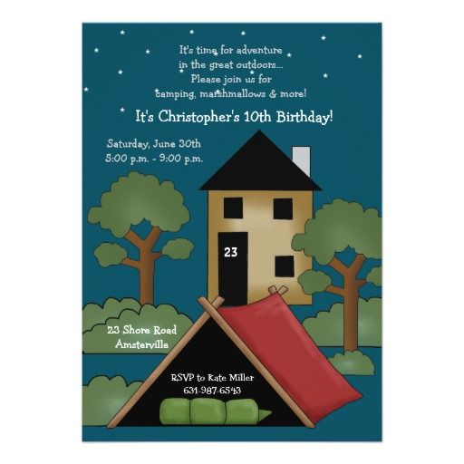 251 best camp out invitations images on pinterest birthday camp out birthday party invitation stopboris Image collections