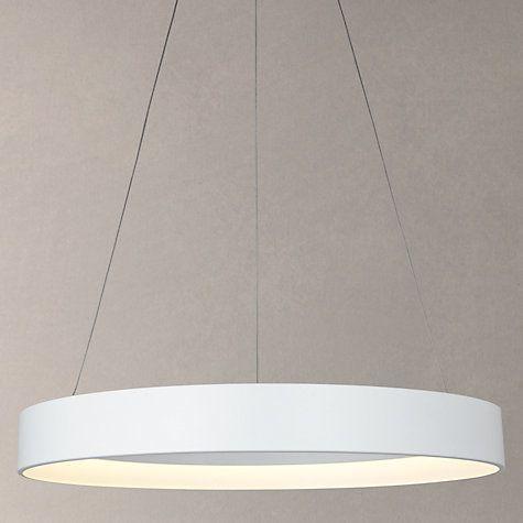 Buy John Lewis Jorgen Hoop LED Ceiling Light, Large, White Online at johnlewis.com