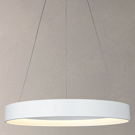 Buy John Lewis Jorgen Hoop LED Ceiling Light, Large, White Online at johnlewis.com