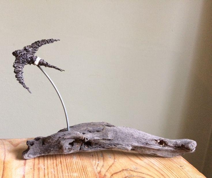 Wire Bird Sculpture Pacific Swift
