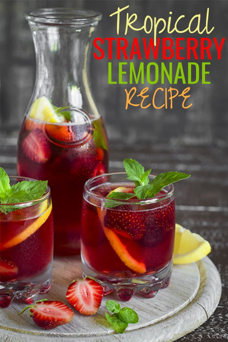 Willing to try a new refreshing drink at your next friendly gathering? Want to taste something cool & sweet, with a powerful punch this weekend? Try our favorite Drink Recipe of the Week - Tropical Strawberry Lemonade! This DIY delicious drink is easy to make & carries the most amazing taste. Try today or pin for later. #recipe