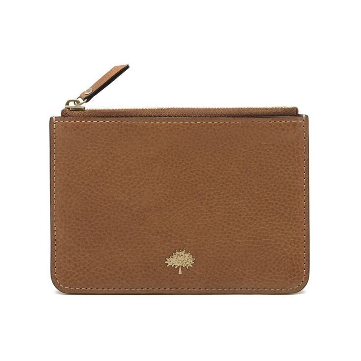 Mulberry - Tree Coin Pouch in Oak Natural Leather