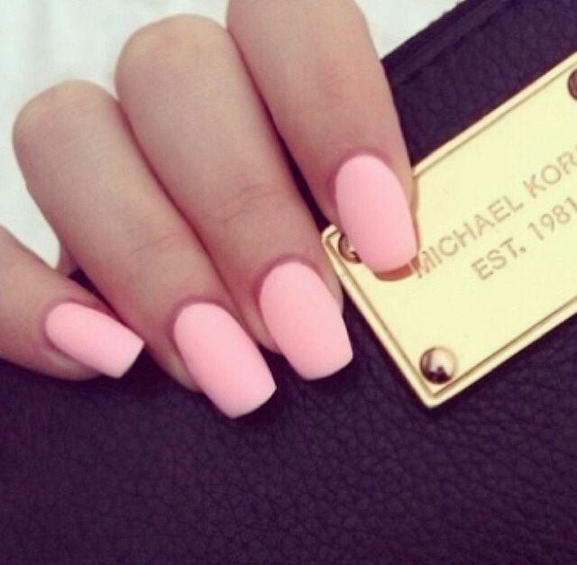 Image Result For Cute Acrylics For Teens Solid Colors Light Pink Acrylic Nails Pastel Pink Nails Pink Acrylic Nails
