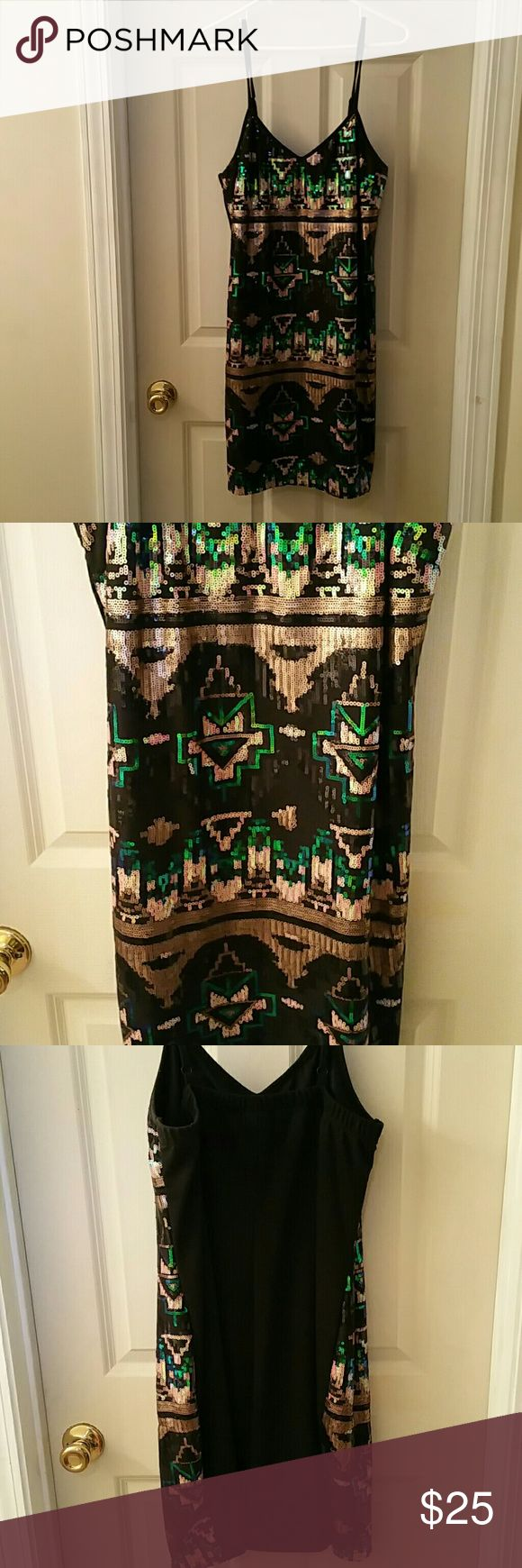 Torrid party dress Cocktail dress. Aztec design on front & plain black on back. Worn once. torrid Dresses Mini