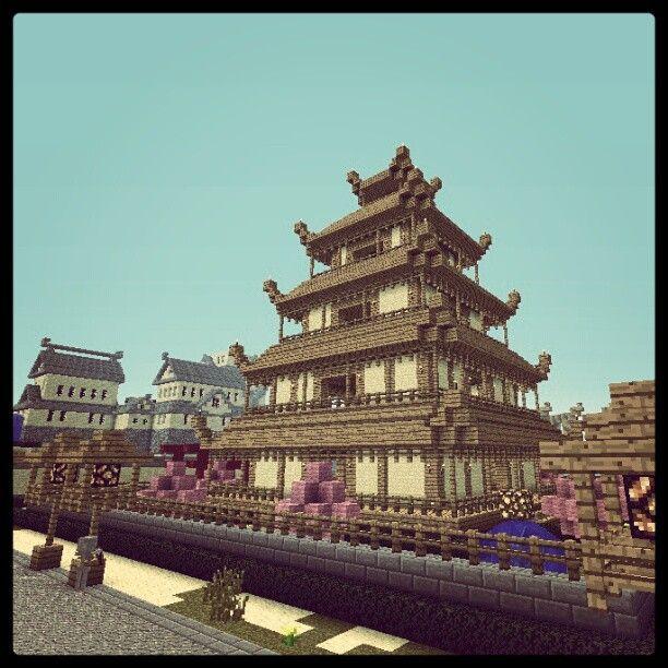 Minecraft Asian Pagoda  http://www.veterancraft.net #minecraft