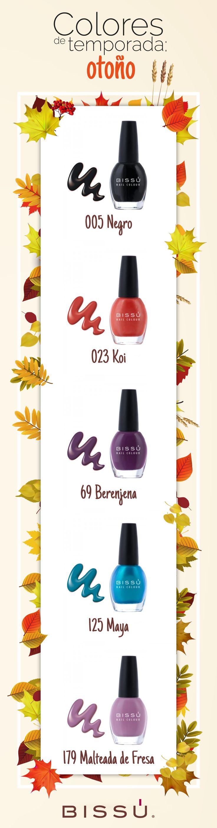Los tonos perfectos para el otoño están aquí. http://tiendaweb.bissu.com/26-esmaltes