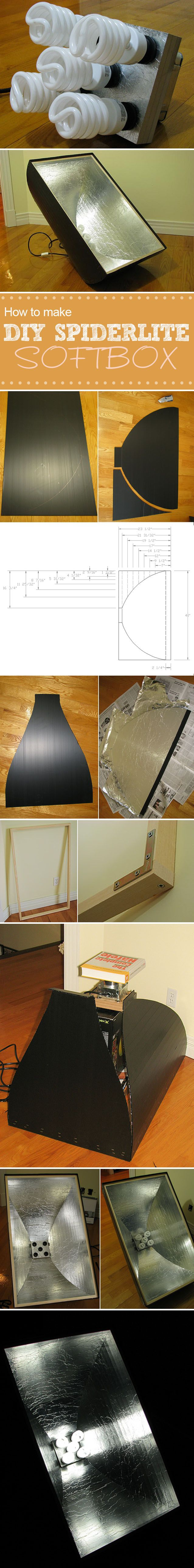 If you have problems with the natural lighting and don't have money for quality artificial lighting, maybe the solution for you could be this DIY Project - DIY Softbox Spiderlite.