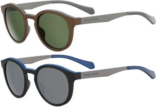 cd8f6e23a655 Hugo Boss Polarized Men's Vintage Round Sunglasses - 0869S (005A / 00N2)  (eBay Link)