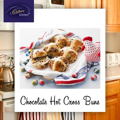 There's nothing better than homemade hot cross buns fresh from the oven… why not try making your own? #easter  http://www.cadburykitchen.com.au/recipes/view/chocolate-hot-cross-buns/4/index.php