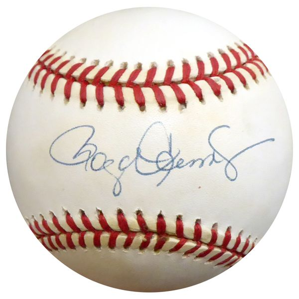 Roger Clemens Autographed Official AL Baseball Red Sox, Yankees Beckett BAS #D20479