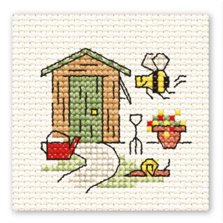 Hobbycraft Garden Shed Mini Cross Stitch Kit | Hobbycraft