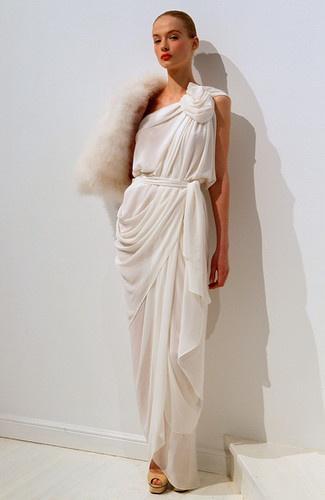 Short White Dress Greek Style