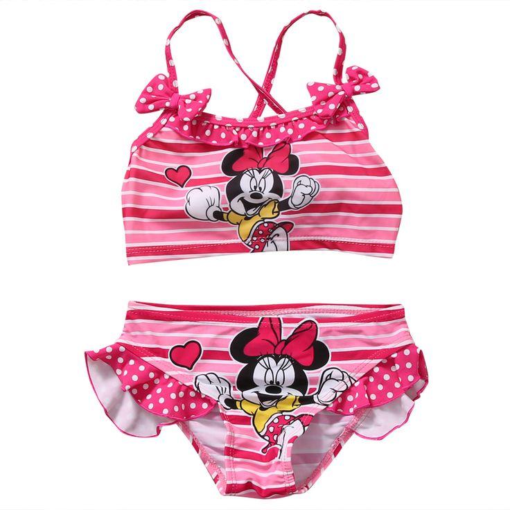 Two-Pieces Kids Baby Girl Tankini Bikini Set Children Summer Swimwear Swimsuit Bathing Suit 2-7