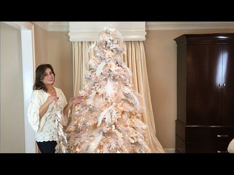 How to Decorate a White Flocked Christmas Tree (Full Length) - YouTube