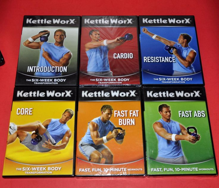KETTLEWORX KETTLEBELL WORKOUT 6 DVD SET 3 STILL SEALED CORE ABS CARDIO STRENGTH