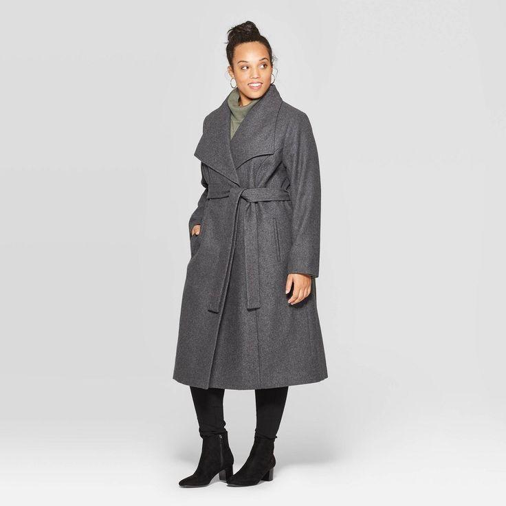 Women S Plus Size Wool Wrap Coat Ava, Target Winter Coats Ladies