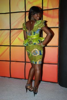 african dresses with peplum - Google Search