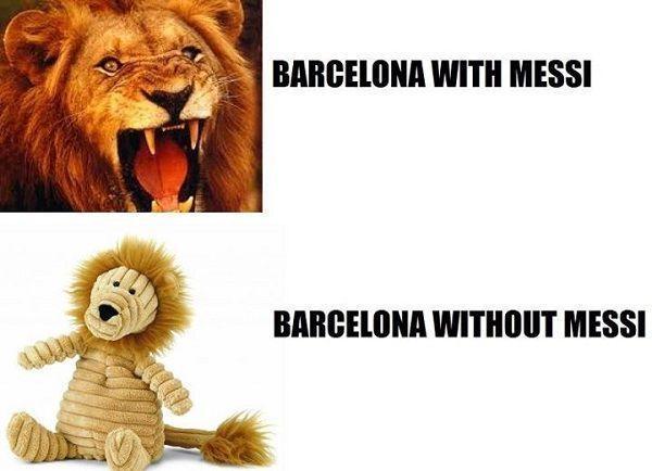 Blaugrana jako pluszowy miś • FC Barcelona z Lionelem Messim jest jak groźny lew • Tak wygląda Barcelona bez Argentyńczyka • Zobacz >> #messi #lionelmessi #barca #fcbarcelona #barcelona #football #soccer #sports #pilkanozna