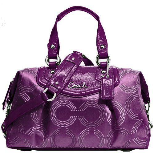 New Authentic COACH Signature Ashley Dotted Optic Art Purple Berry Satchel Shoulder Bag w/COACH Receipt Coach,http://www.amazon.com/dp/B00E36Z5R0/ref=cm_sw_r_pi_dp_eaSAsb08A30CCWC4