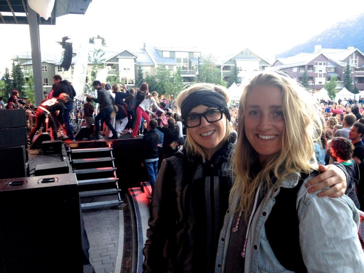 Social City's Sara Rose McKenna backstage at Wanderlust Whistler with Leap of Life Inspirations Lindsay Henwood    Official Social City Networking INC.. Photos. All rights reserved.