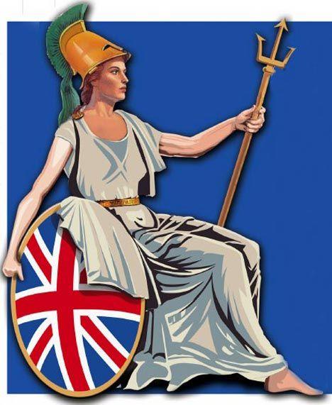 Britannia- the Roman goddess of Britain