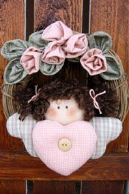 "door angel (with pattern) -use for secret sister , make smaller ""my sister, my friend"""