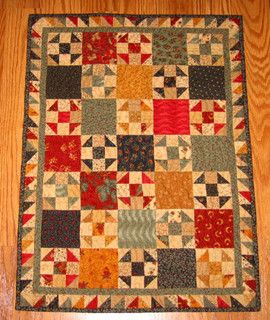 """""""Waste Not, Want Not"""" Doll Quilt by dawnasfolkart, via Flickr"""
