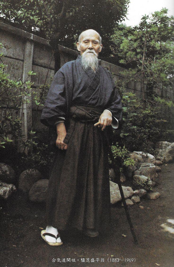 """Aikido Founder Morihei Ueshiba, from """"In Search of the Spirit of Aikido 2"""" (合気道の心を求めて 2) by Kanshu Sunadomari. More from Sunadomari Sensei in this two part interview on the Aikido Sangenkai blog:    Part 1 - http://www.aikidosangenkai.org/blog/interview-aikido-shihan-kanshu-sunadomari-part-1/   Part 2 - http://www.aikidosangenkai.org/blog/interview-aikido-shihan-kanshu-sunadomari-part-2/"""