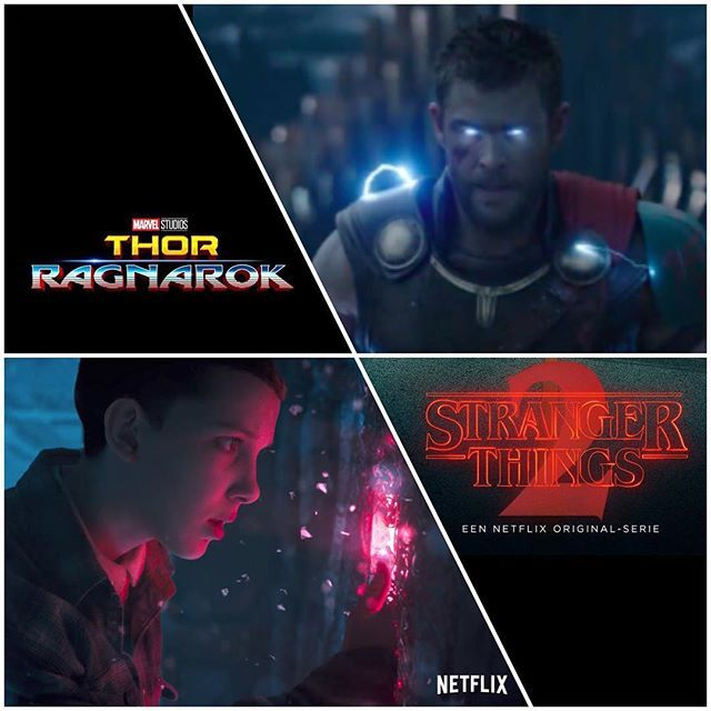 Reposting @dirtees: Goodmorning fellow geeks. There's a new trailer for Thor: Ragnarok AND Stranger Things season 2. We posted them both on our Facebook page. So happy there's two more trailers I'm not going to watch. I'll just rewatch the Ready Player One one again. :) -Melvin #thorragnarok #strangerthingsseason2 #thor #strangerthings #marvel #netflix #sdcc #sdcc2017 #sandiego #comiccon #mcu #avengersinfinitywar #avengers #trailer #sandiegocomiccon #trailers #comics #marvelcomics #eleven…