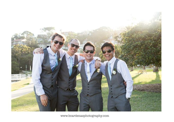 The spunky groomsmen - Angela & Josh Wedding - Bianca Cardenas Photography