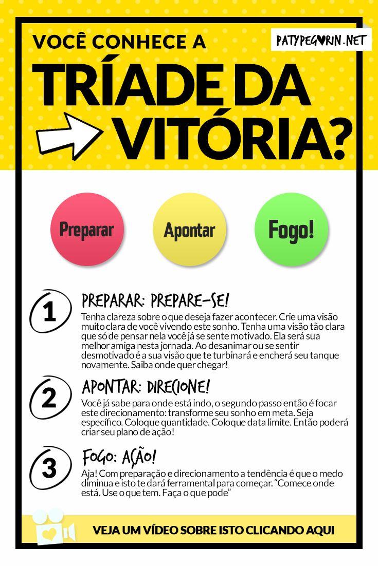 Pinterest - Tríade da Vitória - Paty Pegorin    Veja o vídeo em http://patypegorin.net/triade-da-vitoria/