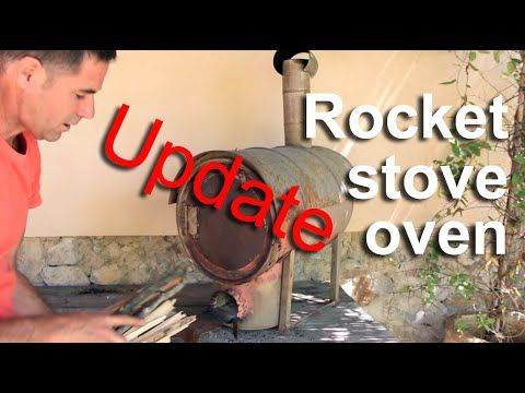 Rocket stove oven - Update - HD - YouTube