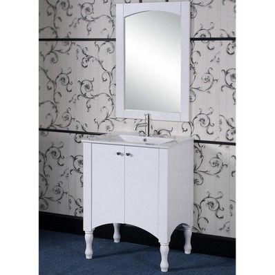 713 style white finish single sink bathroom vanity and matching framed arched top mirror overstock shopping great deals on bathroom