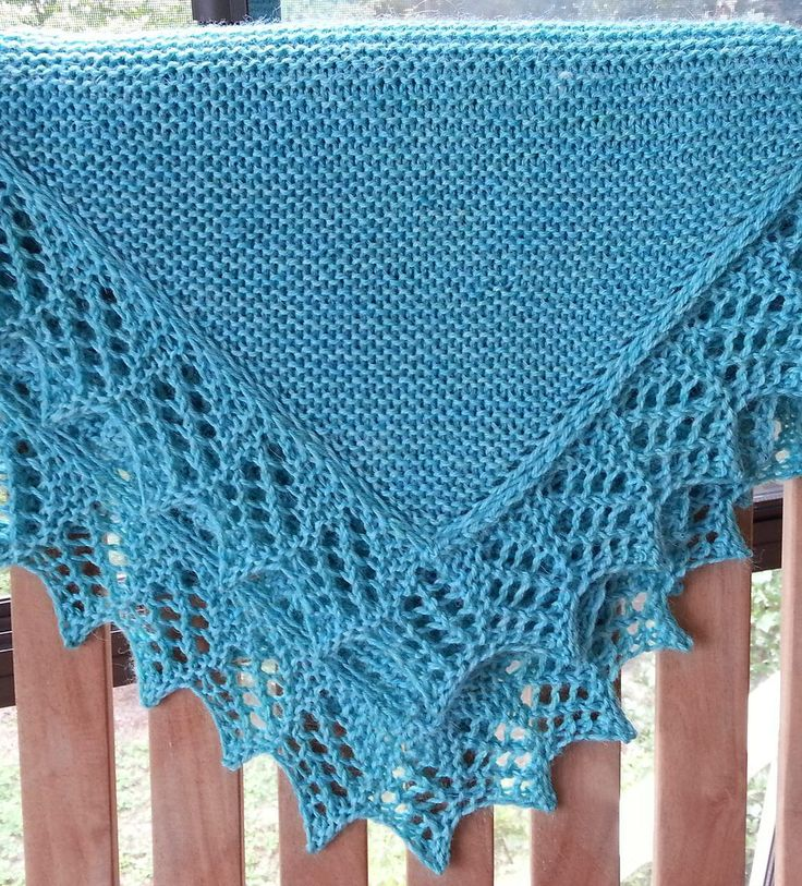 Free knitting pattern for Easy Baby Blanket with Lace Option