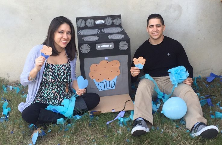 cupcake or stud muffin gender reveal