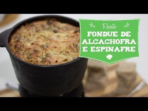 """Neste vídeo ensinamos como preparar uma versão vegana de um clássico da culinária Norte Americana - """"Spinach Artichoke Dip"""" (Fondue de Alcachofra e Espinafre..."""
