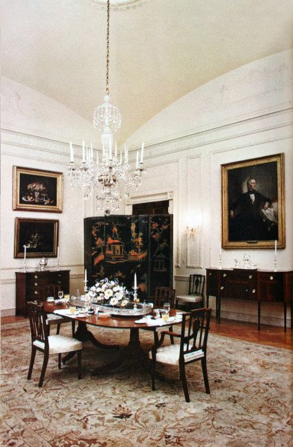 Wwhte House Family Dining Room - Kennedy 1962