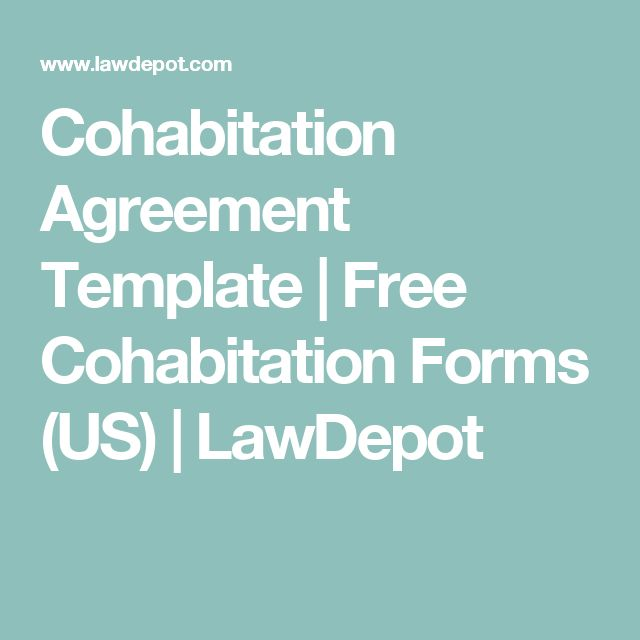 Cohabitation Agreement Template Free Cohabitation Forms (US