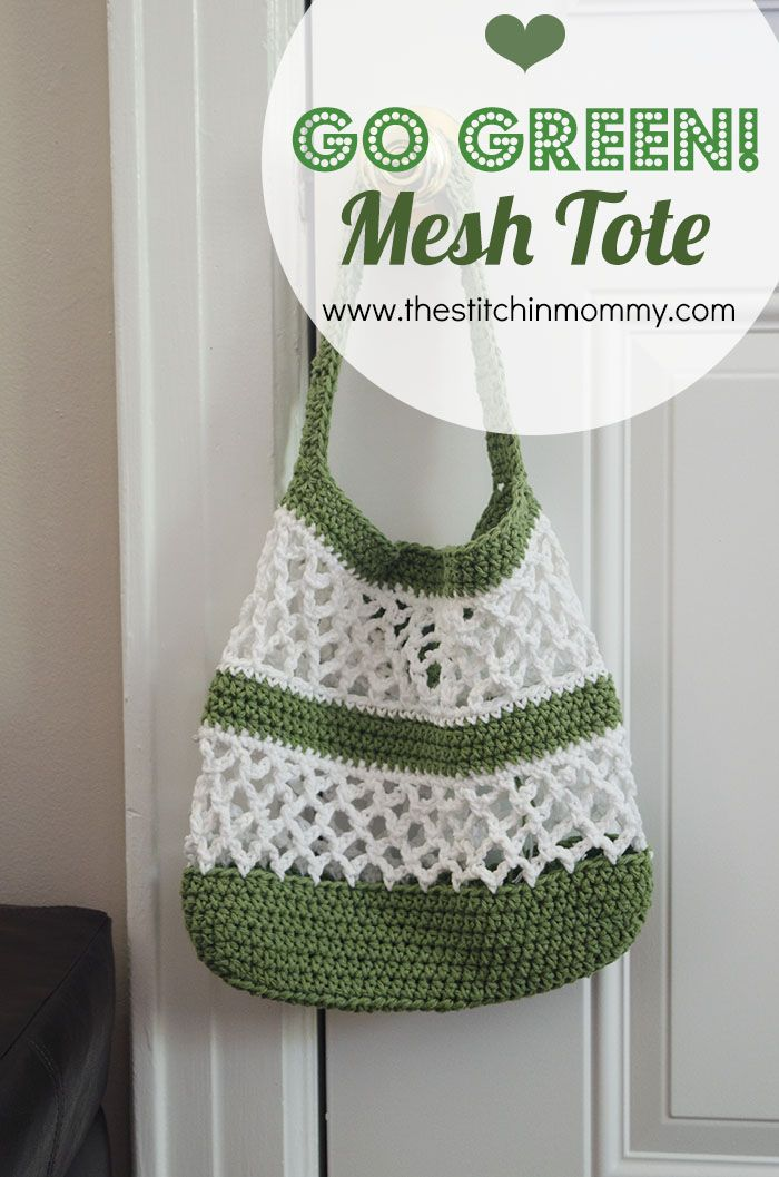 Go Green! Mesh Tote Pattern | www.thestitchinmommy.com                                                                                                                                                                                 More