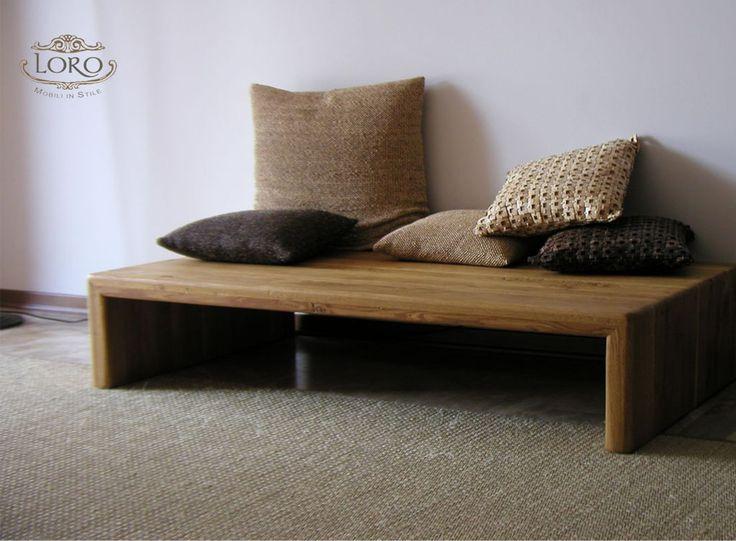 tavolo basso in legno di quercia piallato a mano finitura olio naturale