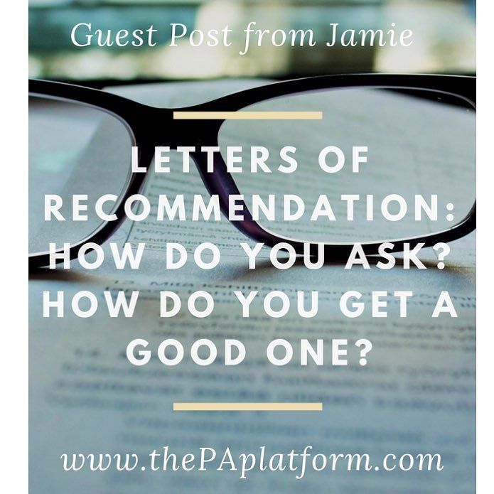 New post on the blog today from @jamienicole_pa.s all about letters of recommendation and she even included an example of a letter she received! Link in profile to check it out. #prepa #pacoach #prepaclub #dermpa #paschool #paprogram #physicianassistant #futurePA #mockinterview #futurephysicianassistant #beapa #pa #pas #pac #pastudent #medicine #womeninmedicine #scrubs #pance #caspa #blogger #medblog #whitecoat #personalstatement #gradschool #gre #paschoollife #paschoolproblems…