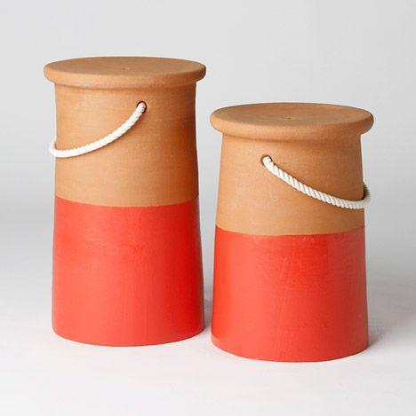 Emerging Italian designers create a range of terracotta objects.