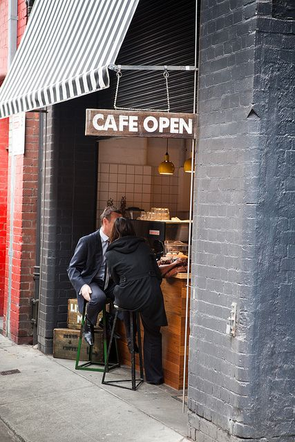 Little Mule Co. | Flickr - I want to own a cafe! Even a tiny one like this would be great!