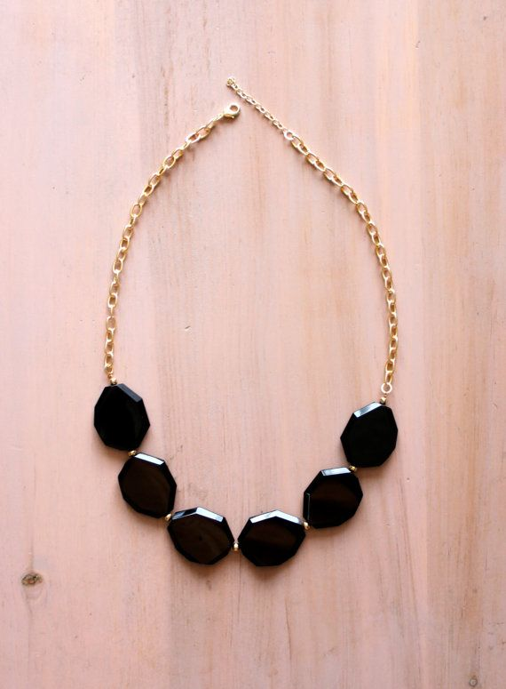 Black Statement Necklace by BeadtiqueLA on Etsy, $25.50