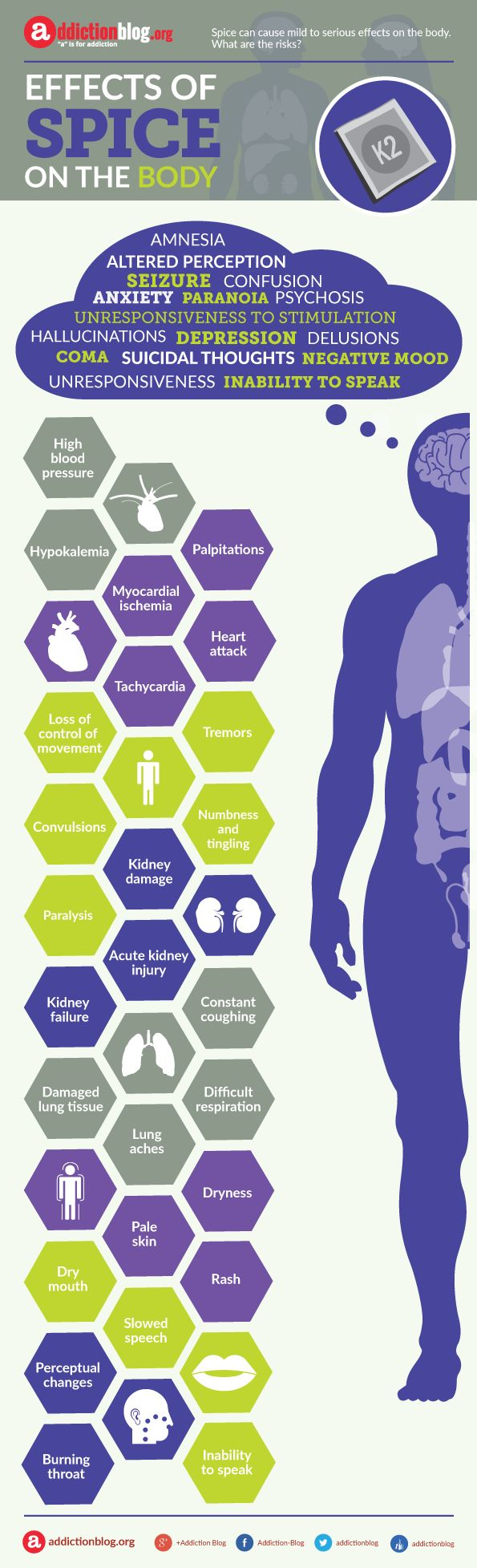 Effects of Spice – synthetic weed on the body (INFOGRAPHIC) | Addiction Blog