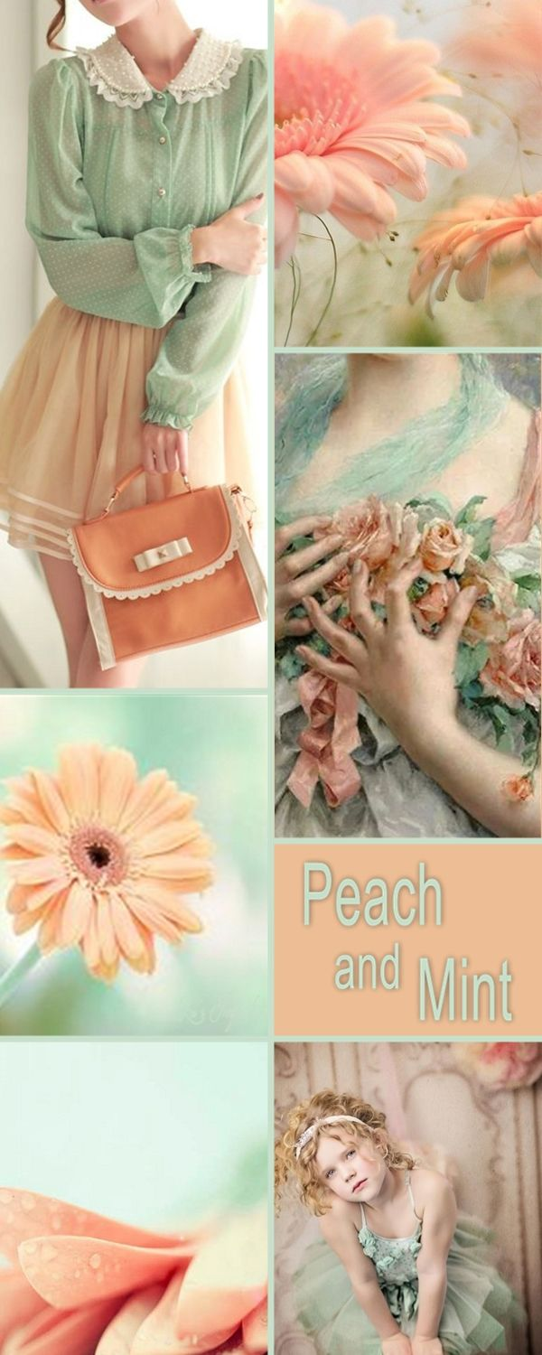 """Tonight let's pin """" PEACH AND MINT. Thank you ladies.  Happy Pinning. ❤"""
