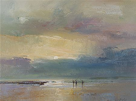 Errol Stephen Boyley - Sunset Fishing